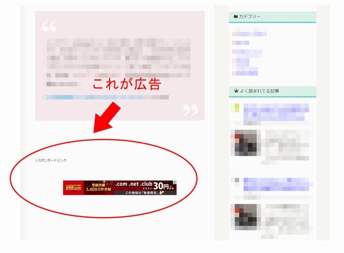アフィリエイトブログの広告